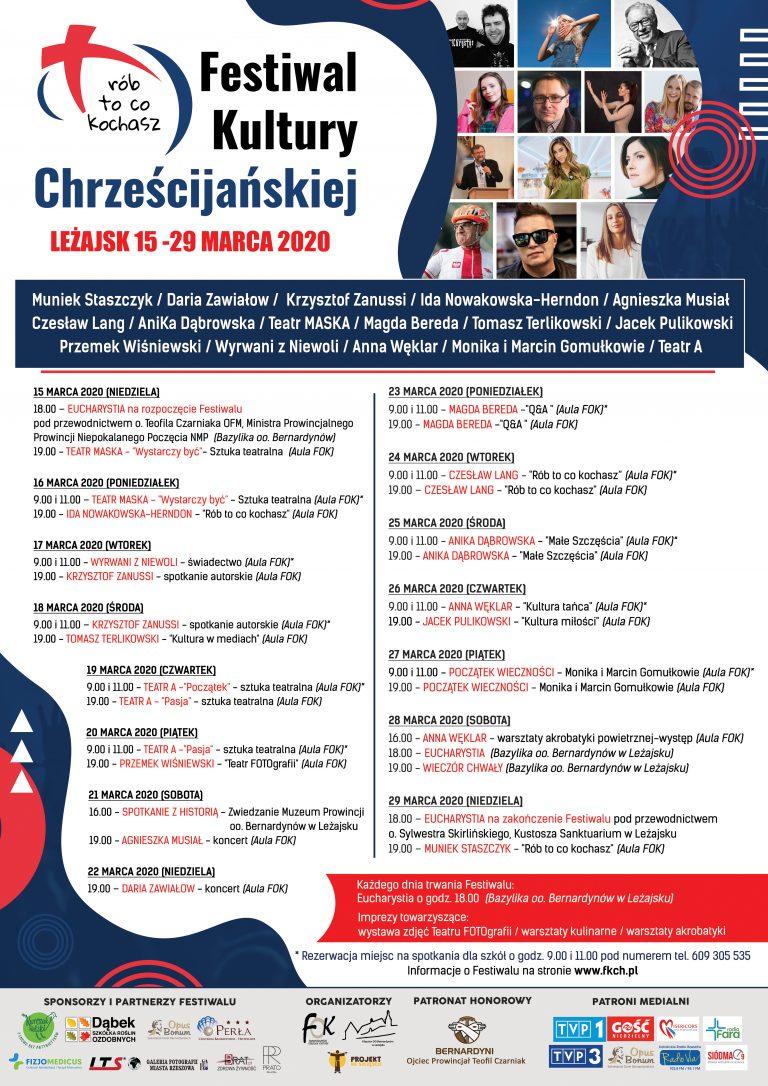 Festiwal Kultury Chrześcijańskiej 2020