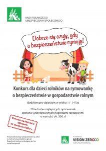 Galeria Konkurs dla dzieci rolników na rymowankę  o bezpieczeństwie w gospodarstwie rolnym