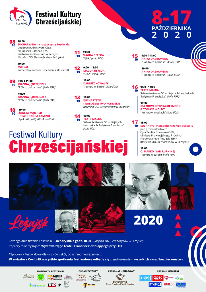 Plakat promujący Festiwal Kultury Chrześcijańskiej