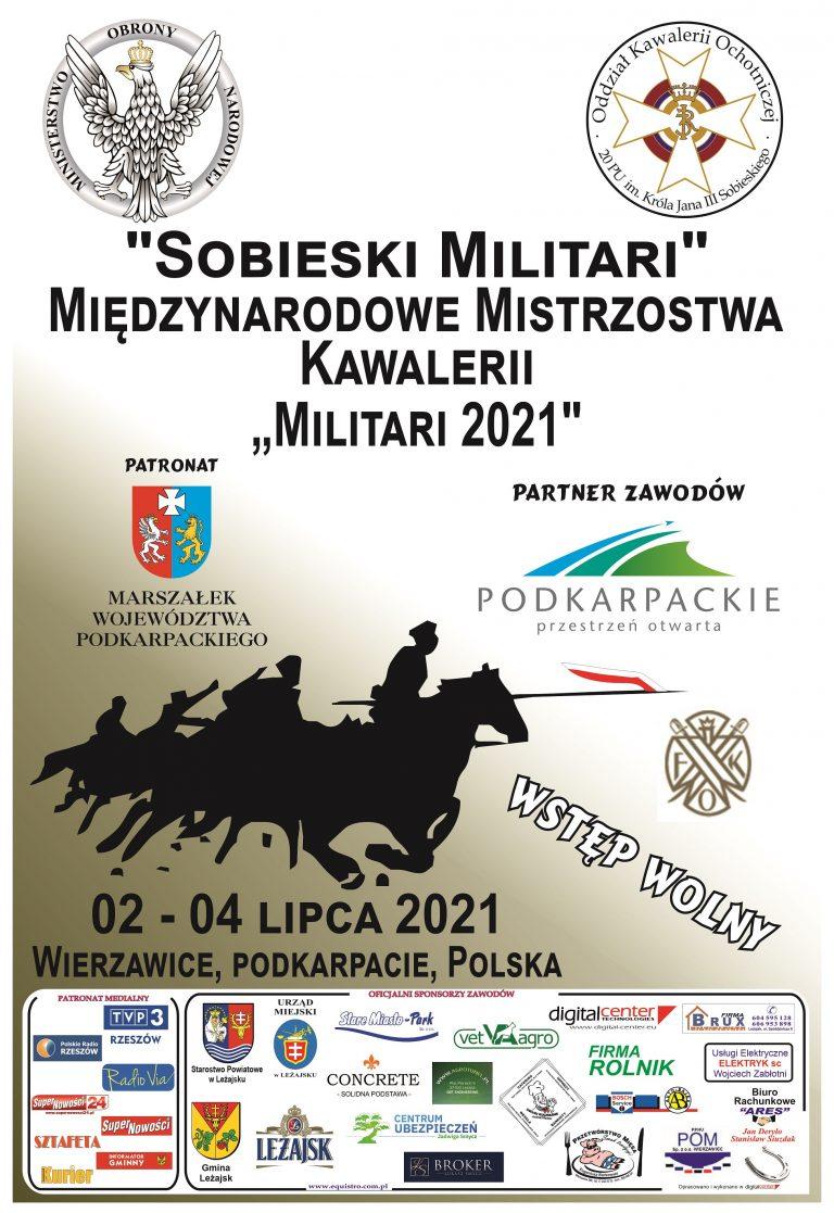 """Sobieski Militari"" Międzynarodowe Mistrzostwa Kawalerii ""Militari 2021"""